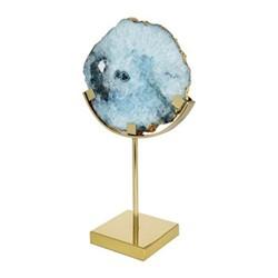 Agate Slice objet, H33.5 x W21 x D12.5cm, blue