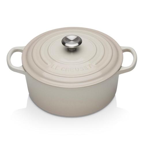Signature Cast Iron Round casserole, 20cm - 2.4 litre, meringue