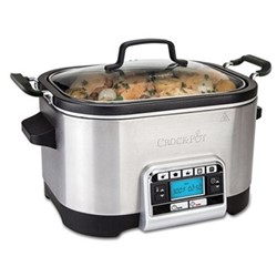 CSC024 Digital slow and multi-cooker, 5.6 litre, silver