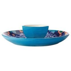 Majolica Majolica Ceramic Chip and Dip Platter Gift Boxed, Multi
