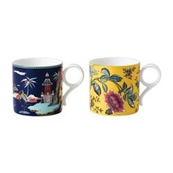 Wonderlust Pair of large mugs, multi