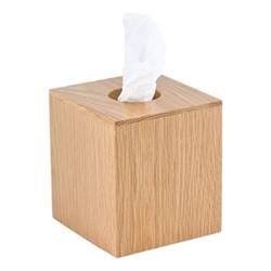 Mezza Tissue box cube, H14 x W12.5 x D13cm, oak