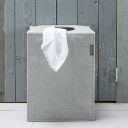 Rectangular laundry bag, 55 litre, grey