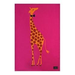 Giraffe - Placement Tea towel, 44 x 65cm, pink