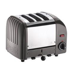 Classic Vario 3 slot toaster, metallic charcoal