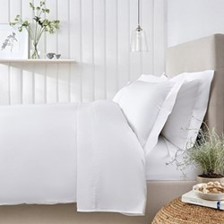 200 Thread Count Essentials Egyptian Cotton King size duvet cover, W225 x L220cm, white