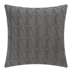 Cable Knit Cushion, 45 x 45cm, dark grey