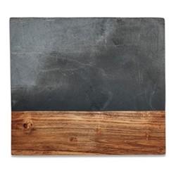Fala Chopping board, L39 x W34cm, slate & acacia