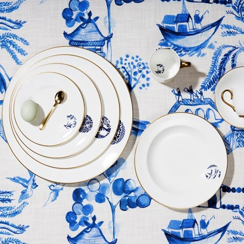 Details From Willow Gold Dinnerware
