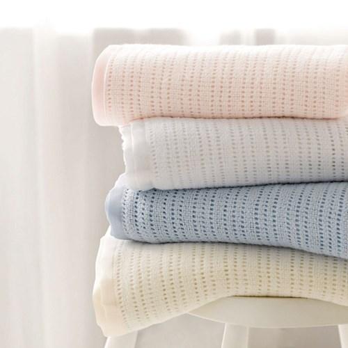 Satin Edged Cellular Pram Blankets