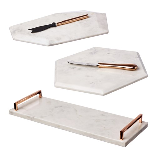 Marble & Copper Serving Boards