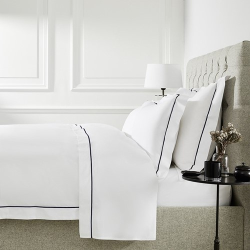 400 Thread Count Savoy Navy Cord Bed Linen