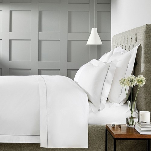 Savoy Bed Linen - Silver Cord