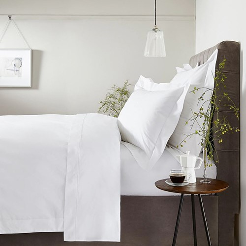 400 Thread Count Savoy White Cord Bed Linen