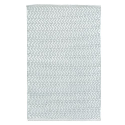 Herringbone Indoor/Outdoor Light Blue Rugs