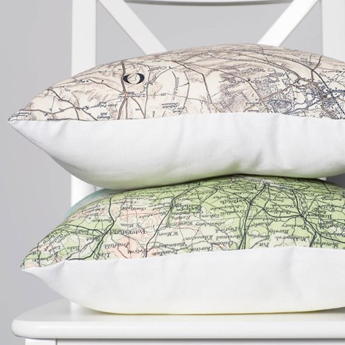 Cushion with Personalised Map