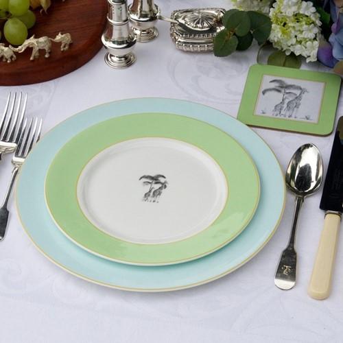 Harlequin Green Giraffe Dinnerware