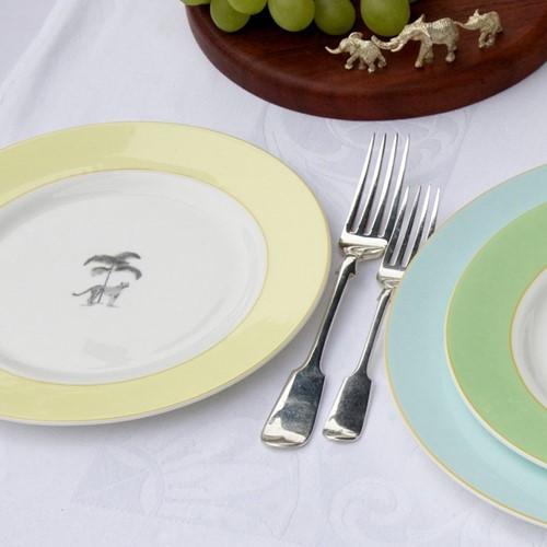 Harlequin Yellow Cheetah Dinnerware