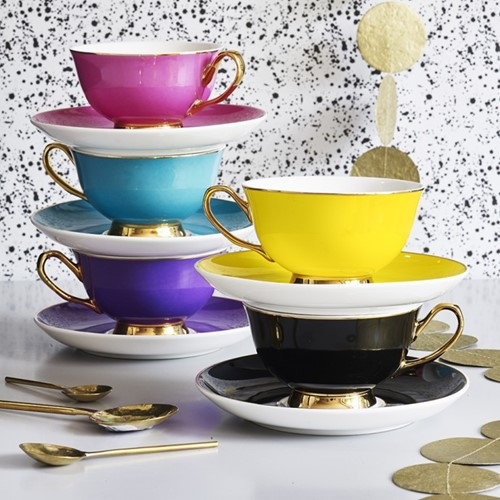 Gold Rim Tea & Coffee Set