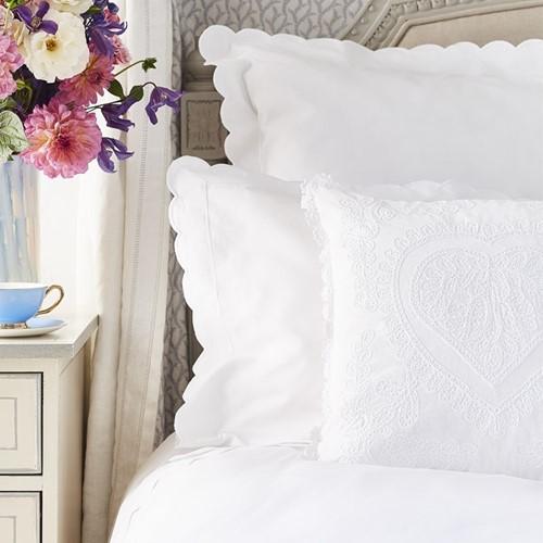 Scallop Bed Linen - White