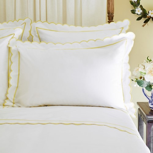 Scallop Bed Linen - Yellow
