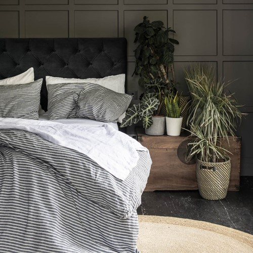 Midnight Stripe Bed Linen