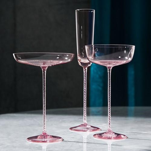 Champagne Theatre Dawn Pink Glassware