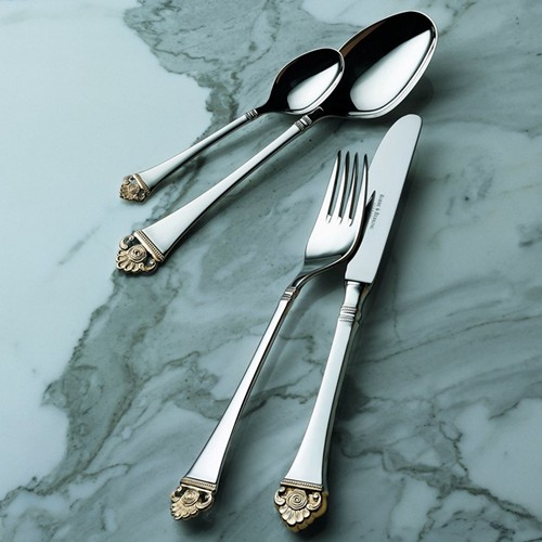 Rosenmuster Sterling Silver Cutlery With Partial Gilt
